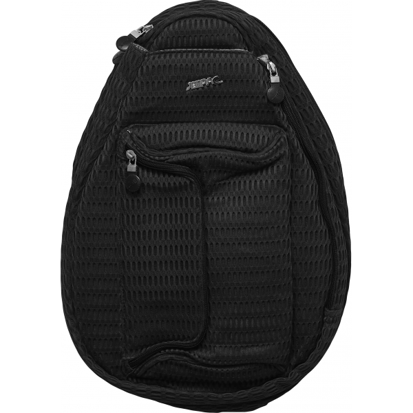 Jet Black Mesh Petite Backpack