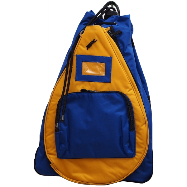 Jet Royal Blue & Gold Sack Bag