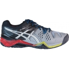 Asics Men's Gel Resolution 6 Shoes (Smoke/ Silver/ Black) - Men's Tennis Shoes