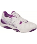 Asics Women's Gel Resolution 6 London Tennis Shoes (White/Silver/Purple) - 6-Month Warranty Shoes