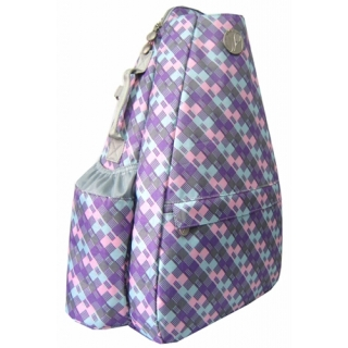 Jet Pastel Plaid Small Sling Convertible