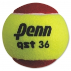 Penn QST 36 Red Felt Tennis Balls (3 Pack) - Junior Red Felt Outdoor Training Tennis Balls