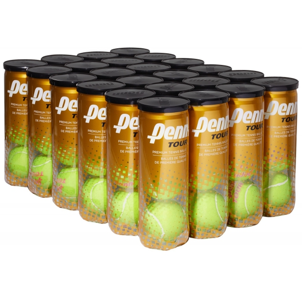 Penn Tour Regular-Duty Felt Tennis Balls (3-Ball Can/Case)
