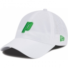 Prince Perforated Microfiber Hat (White/ Green) - Tennis Accessories