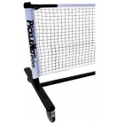 PickleNet Deluxe Portable Pickleball Net On Wheels - Tennis Court Equipment