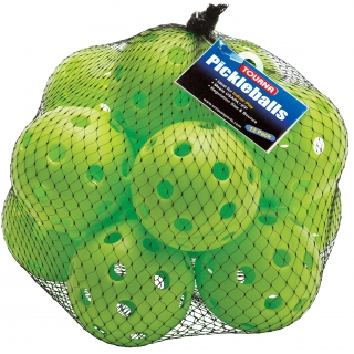 Tourna Indoor Lime Green Pickleballs (12-Pack)