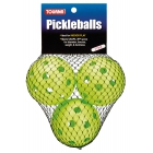 Tourna Indoor Lime Green Pickleballs (3-Pack) - Pickleball Equipment Brands