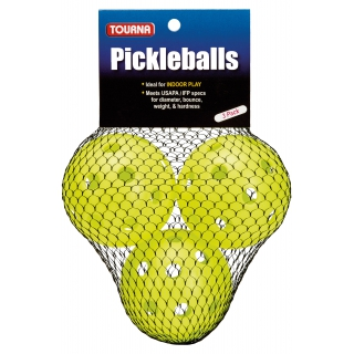 Tourna Indoor Optic Yellow Pickleballs (3-Pack)