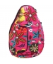 Jet Pink Floral Mini Backpack - Womens Bags