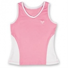Little Miss Tennis Color Block Tank (Pink/ White) - Girls's Tennis Apparel