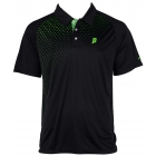 Prince Men's Graphic Polo (Black/Green) - Men's Tennis Apparel