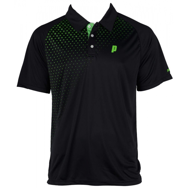 Prince Men's Graphic Polo (Black/Green)