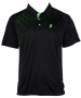 Prince Men's Graphic Polo (Black/Green) - Men's Tops Polo Shirts Tennis Apparel