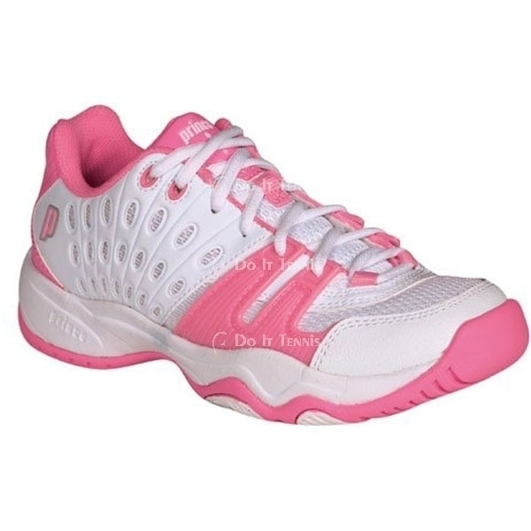 Prince Junior's T22 Tennis Shoe (White/Pink)