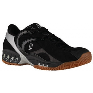 Prince Men's MV4 Indoor Racquet Shoe (Black / Silver)