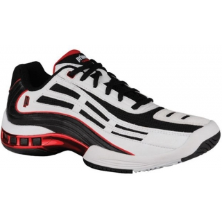 Prince Men's Rebel LS Tennis Shoe (White/Black/Red)