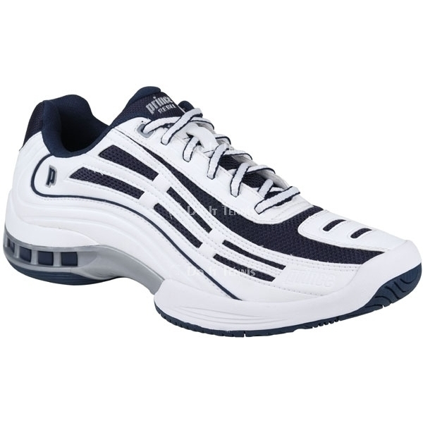 Prince Men's Rebel LS Tennis Shoe (White/Navy/Silver)