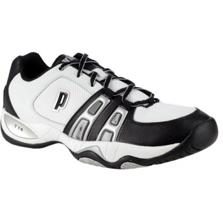 Prince Men's T14 Tennis Shoe (Wht/ Blk/ Sil)