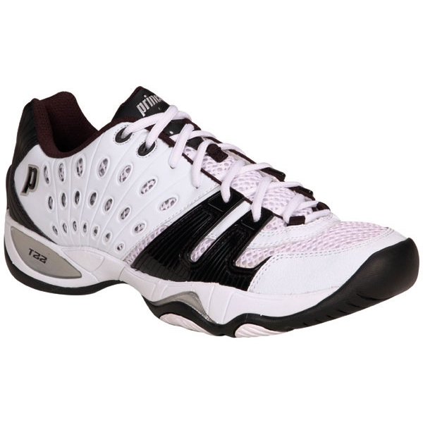 Prince Men's T22 Tennis Shoe (White/Black)