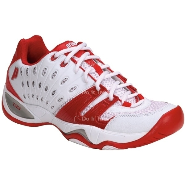 Prince Men's T22 Tennis Shoe (White/Red)