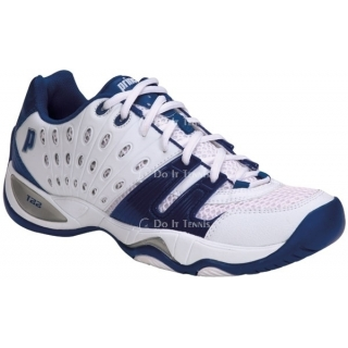 Prince Men's T22 Tennis Shoe (White/Royal)