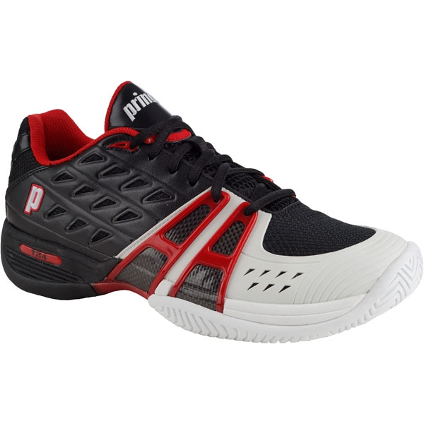 Prince Men's T24 Tennis Shoe (Blk/ Wht/ Red)