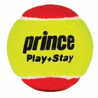 Prince Play+Stay Stage 3 Balls (75% Reduced Speed Felt) 12Pk