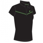 Prince Women's Polo (Black/ Green) - Tennis Apparel
