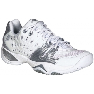 Prince Women's T22 Tennis Shoe (White/Silver)