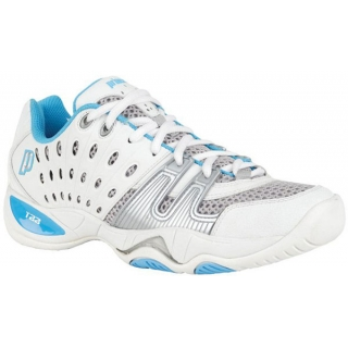 Prince Women's T22 Tennis Shoe (White/Turquoise)