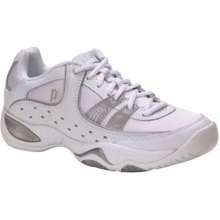 Prince Women's T8 Tennis Shoe (White/Silver)