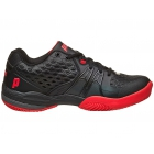 Prince Men's Warrior Tennis Shoes (Black / Red) - Men's Tennis Shoes