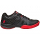 Prince Men's Warrior Tennis Shoes (Black / Red) - Prince Tennis Shoes