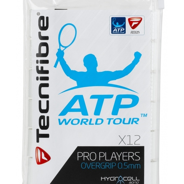 Tecnifibre Pro Players Overgrip 12 Pack (White)