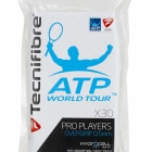 Tecnifibre Pro Players Overgrip 30 Pack (White) - Absorbent Over Grips