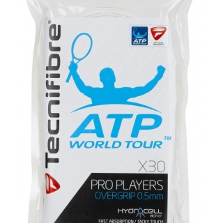 Tecnifibre Pro Players Overgrip 30 Pack (White)
