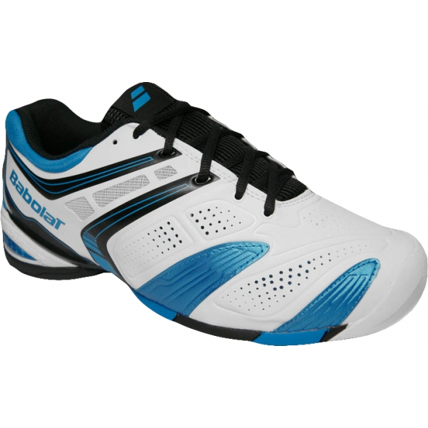 Babolat Men's V-Pro 2 All Court Tennis Shoes (White/ Blue)