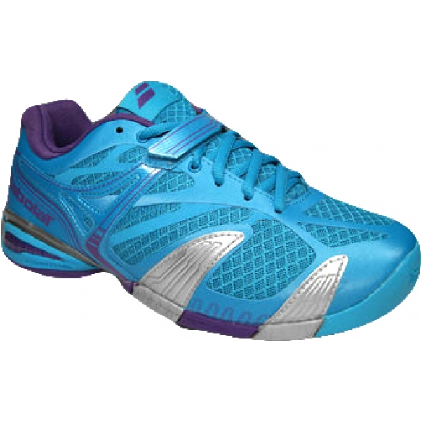 Babolat Women's Propulse 4 Tennis Shoe (Blue/ Purple)