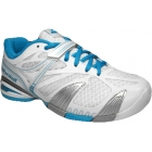 Babolat Women's Propulse 4 Tennis Shoe (White/ Blue) - Babolat Propulse Tennis Shoes