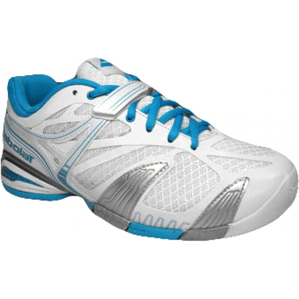 Babolat Women's Propulse 4 Tennis Shoe (White/ Blue)