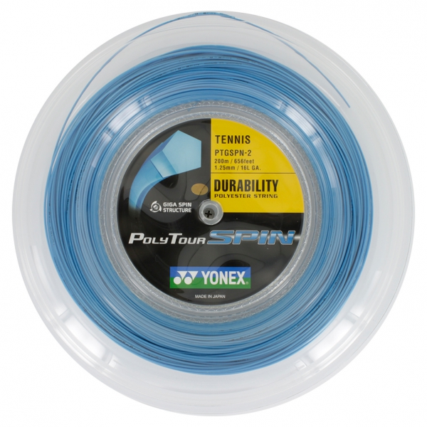 Yonex Poly Tour Spin 125 16L Tennis String Reel
