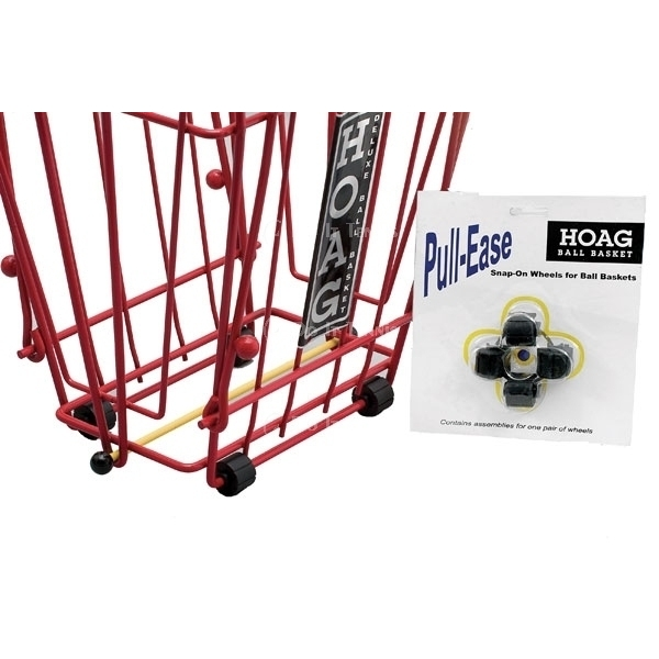 Pull-Ease Snap-On Wheels for ball baskets #9852