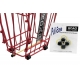 Pull-Ease Snap-On Wheels for ball baskets - Ball Hoppers & Carts that Hold More than 100 Tennis Balls