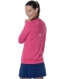 Bloq-UV Long Sleeve Tennis Pullover (Passion Pink) - Women's Tops
