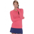 Bloq-UV Long Sleeve Tennis Pullover (Watermelon) - Women's Tennis Apparel
