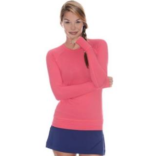 Bloq-UV Long Sleeve Tennis Pullover (Watermelon)
