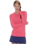 Bloq-UV Long Sleeve Tennis Pullover (Watermelon) - Women's Tops