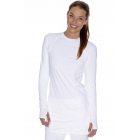 Bloq-UV Long Sleeve Tennis Pullover (White) - Women's Tennis Apparel