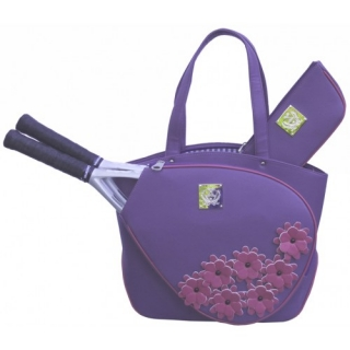 Court Couture Cassanova Tennis Bag (Purple Daisy)