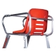 Putterman Deluxe Umpire Chair (Cost Effective Red) - Tennis Umpire Chairs